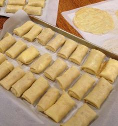 These are basic cheese blintzes…my mother's basic cheese blintzes! To me, they are the defining blintz, and nothing brings back the food memories of my childhood more than this blintz. Mild, buttery, cheesy and creamy—the ultimate comfort food! Kosher Recipes, Gourmet Recipes, Cooking Recipes, Dairy Recipes, Brunch Recipes, Breakfast Recipes, Dessert Recipes, Desserts, Brunch Menu