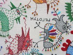 Textile work (85x95sm.) Kookaburra on Behance