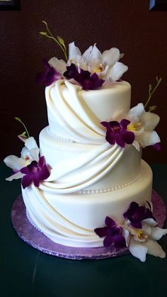 Image result for Wedding cake styles purple theme