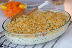 Tonfiskgratäng med pasta Zeina, Food Fantasy, Recipe For Mom, Fusilli, Fried Rice, Tapas, Macaroni And Cheese, Cake Recipes, Seafood