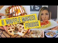 5 Unusual Ways to use a Waffle Maker! - YouTube