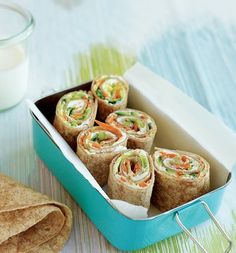 We love any recipe that's tasty, easy, and filling. Cookbook author Kim Laidlaw has mastered the goat cheese and veggie pinwheel recipe that moms everywhere can put together in a snap. The best part? You can take them on the go for all those after-school activities.  Source: Kim Laidlaw