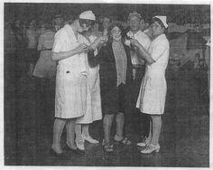 Dance Marathons Headlines 1920s | dancer being attended to