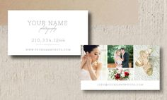 Photography Business Cards  Wedding by designbybittersweet on Etsy