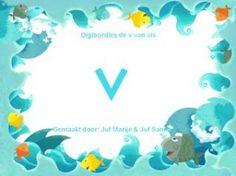 Digibordles de v van vis - Juf Sanne en Juf Marije