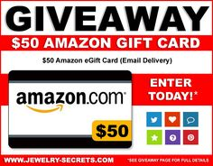 ► Pin the $50 Amazon Gift Card Contest Image!