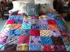 Simple quilt by Quilt While You're Ahead.