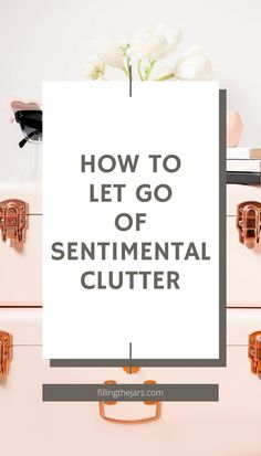 Can't let go of sentimental clutter and memorabilia? Here are 5 decluttering tips and strategies to ease your mind about letting go of extra stuff while keeping the memories. Do You Really, Let It Be, Easy Fill, Memory Journal, Clutter Free Home, Learning To Be, Decluttering, Helpful Tips, Storage Solutions