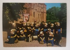 Postcard sent to the USA: Cannenburgher dancers, Vaassen, the Netherlands (swap: Quicker than Quick Signup & Send #1)