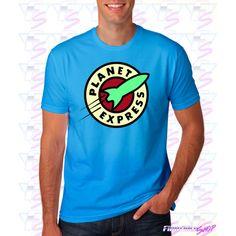 Camiseta Planet Express la marca de la empresa de reparto de la serie Futurama