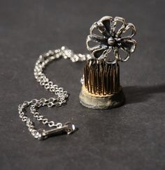 Guy Vidal Necklace  Brutalist Modernist  Flower by LuckyPatina