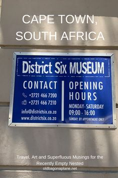 The District Six Museum is a museum in the former inner-city residential area in Cape Town, South Africa in an old Methodist church.   Founded in 1989, the District Six Foundation serves as a memorial to the forced movement of 60,000 inhabitants of various races in District Six during Apartheid in South Africa in the 1970s. #CapeTown #SouthAfrica #DisctrictSix #mytraveldiary #traveladdict #museums #history