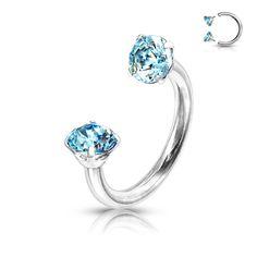 Circular barbells with 2 crystals aqua Piercings, Aqua, Circular Barbell, Shops, Septum, Engagement Rings, Crystals, Jewelry, Watches