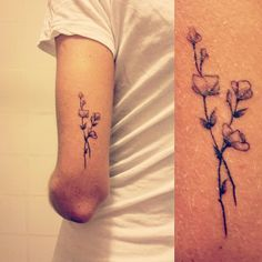 Small delicate flower tattoo #small #tattoo #flower #delicate #beautiful #pretty