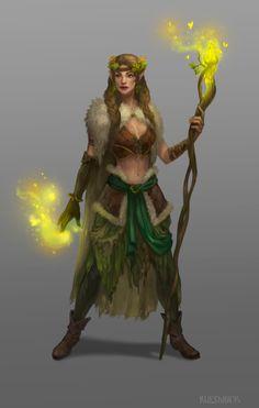 Female druid_concept by Uruno-Morlith on DeviantArt