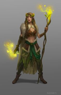 Female druid_concept by Uruno-Morlith