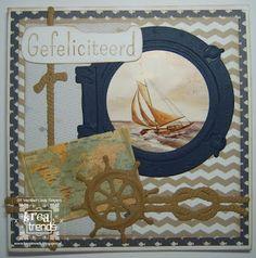 Handmade by Linda: Zullen we een dagje gaan varen ? House Of Cards, Marianne Design, Tall Ships, Holland, Beaches, Card Making, Symbols, House Design, Frame