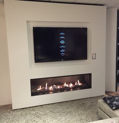 Wonderful No Cost Electric Fireplace basement Popular Living Room Decor Fireplace, Fireplace Tv Wall, Wall Mount Electric Fireplace, Modern Fireplace, Fireplace Design, New Living Room, Living Room Modern, Living Room Designs, Family Room Walls