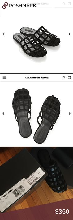 Alexander Wang Alison slide Black suede. Never worn. Brand new w box and dustbag. Comfy and simple. Very popular this season! Size 40. Sold out in this size everywhere Alexander Wang Shoes Mules & Clogs