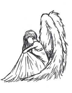 Image result for angel sitting down