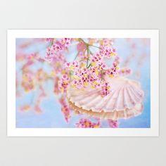 PINK SEA SHELL DREAM Art Print by  VIAINA - $19.99