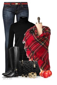 """Apple Picking"" by bln-in-mn ❤ liked on Polyvore featuring CROSS Jeanswear, Donna Karan, Dolce&Gabbana, Coach, Tory Burch, Hive & Honey and Marc by Marc Jacobs"