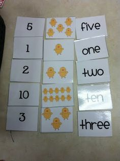 Great practice for number sets, number words, and numbers 1-10