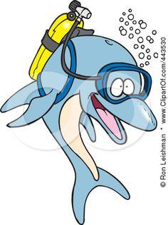 443530-Royalty-Free-RF-Clip-Art-Illustration-Of-A-Cartoon-Scuba-Dolphin.jpg (336×450)