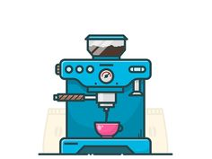 COFFEE MACHINE by Alexander Kunchevsky #Design Popular #Dribbble #shots