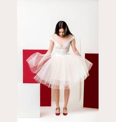 Short White nude flower lace dress. Bodysuit leotard fitted.  www.soulmatte.com