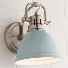 This simple yet classic dome shade bath sconce boasts vibrant, sleek finishes and is sure to add a crisp clean look to any home. Versatile and chic, this fixture is a great choice for traditional, beach, cottage, or contemporary decor. The fixture's retro shape will also make it a great fit for a mid-century modern bathroom design. Cottage Style Bathrooms, Beach House Bathroom, Beach House Kitchens, Coastal Bathrooms, Beach Cottage Style, Beach Bathrooms, Beach Cottage Decor, Beach Condo Decor, Beach Chic Decor