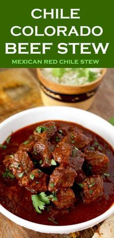 4 Points About Vintage And Standard Elizabethan Cooking Recipes! This Rich And Hearty Chile Colorado Beef Stew Is Lip-Smacking Good . A Meal In Itself And Perfect For Tacos Or Burritos Stove Top, Oven And Slow Cooker Instructions Provided Chili Recipes, Slow Cooker Recipes, Mexican Food Recipes, Soup Recipes, Dinner Recipes, Cooking Recipes, Healthy Recipes, Beef Chunks Recipes, Crockpot Beef Recipes