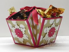 Wow, I am on Day 10 of my 12 Days of Christmas Treat Holders. I hope I have given you some inspiration to whip some of the treat holders for last minute treasures. I've tried to keep them simple in ca