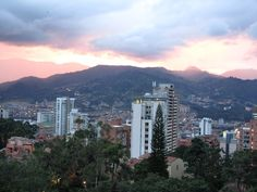 View from my apartment in Medellin, Colombia
