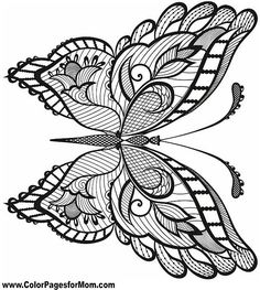 Butterfly Coloring Page 38 Make your world more colorful with free printable coloring pages from italks. Our free coloring pages for adults and kids. Coloring Book Pages, Printable Coloring Pages, Coloring Sheets, Butterfly Coloring Page, Butterfly Art, Mandalas Drawing, Zentangles, Mandala Coloring, Free Coloring