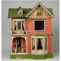 Gottschalk Moritz Gebäude Puppenhaus mit zwei Etagenund...Nice old dollhouse. .....Rick Maccione-Dollhouse Builder, 26 years www.dollhousemansions.com