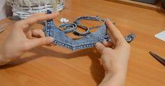 Kreatívny DIY nápad s videonávodom urob si sama na handmade náhrdelník zo starých džínsov. Džínsový náhrdelník, rifľový náhrdelník na krk, návod