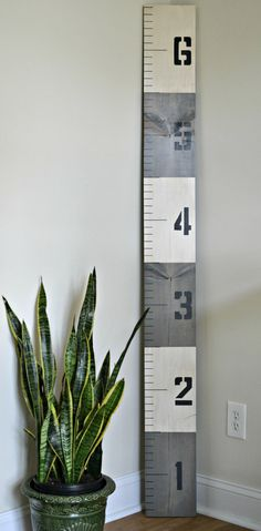 LOVE!  Great idea for marking family measurements instead of the wall!  Nautical Growth Chart Ruler  Gray Antiqued FREE SHIPPING by MomentsSaved
