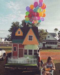"""I'm still in the afterglow of our fun and successful Trunk R Treat event last Saturday night. Here is our first place winner, a creative rendition of the Pixar movie """"Up."""" Beside it sits the creative genius behind it Rita Hallam. @citychurchfl #Up #trunkortreat #husbandwifeteams"""