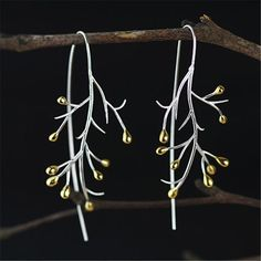 Cheap pendientes Buy Quality pendientes silver directly from China pendientes silver 925 Suppliers: Lotus Fun Real 925 Sterling Silver Natural Creative Handmade Fine Jewelry Statement Tree Fashion Drop Earrings for Women Brincos Long Silver Earrings, Sterling Silver Earrings Studs, Jewelry Gifts, Fine Jewelry, Women Jewelry, Handmade Jewelry, Trendy Jewelry, Earrings Handmade, Jewelry Accessories