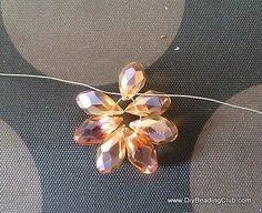 DIY Wire Jewelry Tutorial - Wired Beaded Flower