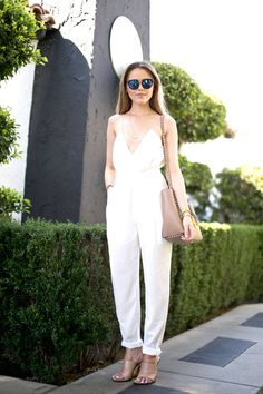 So chic in white with nude accents. In Palm Springs for Coachella.