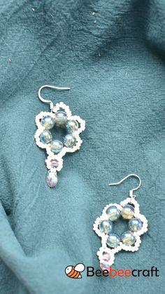 Bead Jewellery, Jewelry Making Beads, Jewelry Making Supplies, Beaded Jewelry, How To Make Earrings, Diy Earrings, Flower Earrings, Diy Crafts Jewelry, Cute Jewelry