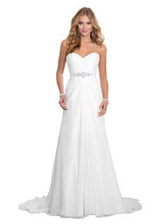 Dreambridal Simple A Line Chiffon Bride Wedding Dresses at Amazon Women's Clothing store: