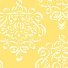 Dena Fishbein - Taza - Ribbon Damask in Yellow