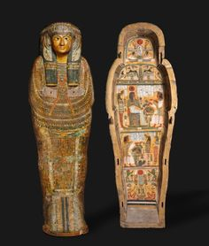 Cleveland Museum of Art Coffin of Nesykhonsu, c. BC Egypt, Thebes, Third Intermediate Period, late Dynasty 21 BC) to early Dynasty 22 BC) gessoed and painted sycamore Ancient Egyptian Art, Ancient History, Art History, Egypt Mummy, Egypt Museum, Modern Egypt, Empire Romain, Egypt Art, Visit Egypt