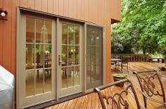 Beautiful Patio Doors out onto a gorgeous deck on Long Island, from Renewal by Andersen