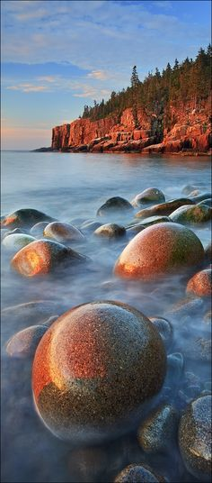 Patrick Zephyr Nature Photography - Otter Cliffs, Acadia National Park, ME Acadia National Park, Parc National, National Parks, Places Around The World, Around The Worlds, Beautiful World, Beautiful Places, Beautiful Beach, Places To Travel