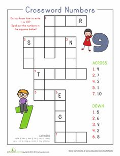 Worksheets: Number Crossword
