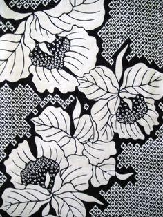 Indigo Botan Vintage Japanese cotton kimono fabric by KimonoARTUK